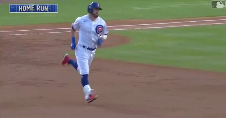 Cubs second baseman Jason Kipnis got in on the early home run action with a 426-foot two-run jack.