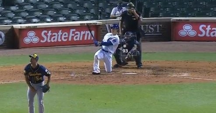 Anthony Rizzo went down on one knee and hit his first home run of the season in the eighth inning on Friday.