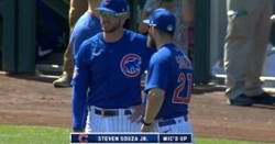 Catcher/Outfield options for 26th man for Cubs