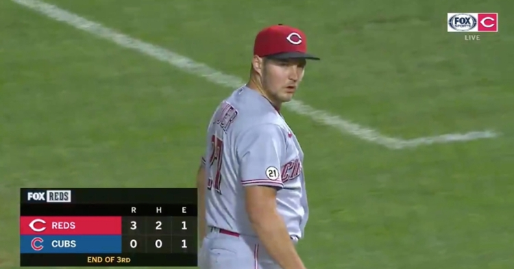 Reds hurler Trevor Bauer was his usual confrontational, fiery self on Wednesday night.