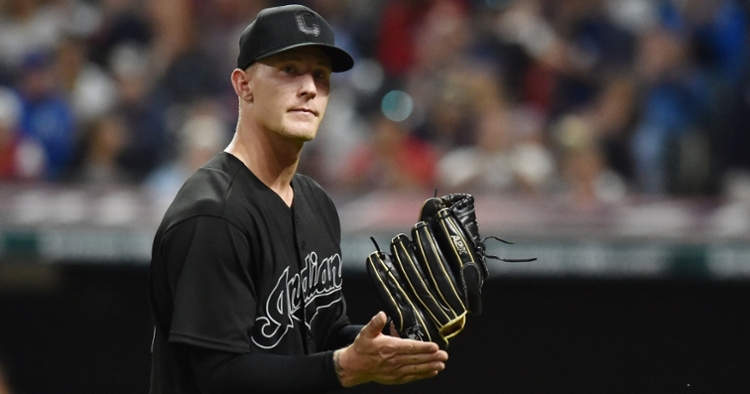 Cleveland Indians pitcher Zach Plesac was sent home after hanging out with friends in Chicago. (Credit: Ken Blaze-USA TODAY Sports)
