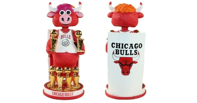 Chicago Bulls Six-Time NBA champions bobblehead unveiled