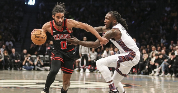 Coby White dribbling against the Nets (Wendell Cruz - USA Today Sports)
