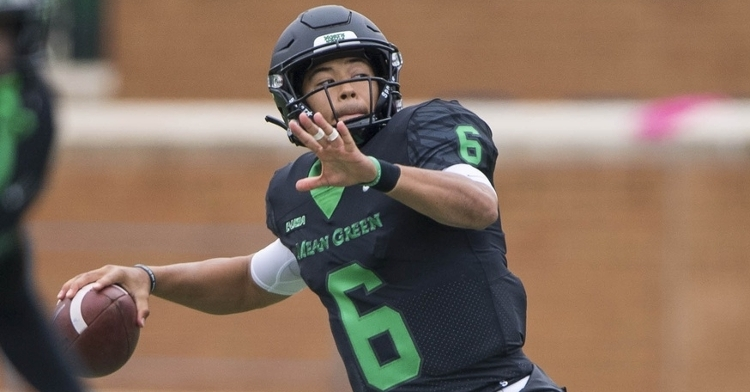 Mason Fine was not selected in the 2020 NFL Draft after putting together a fantastic career at North Texas. (Credit: Jerome Miron-USA TODAY Sports)
