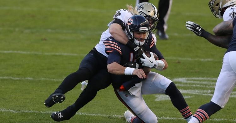 Trubisky was hurt on his lone play against the Saints (Dennis Wierzbicki - USA Today Sports)
