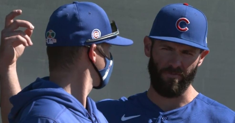 Jake Arrieta looks locked in early at spring training (Photo: Cubs)
