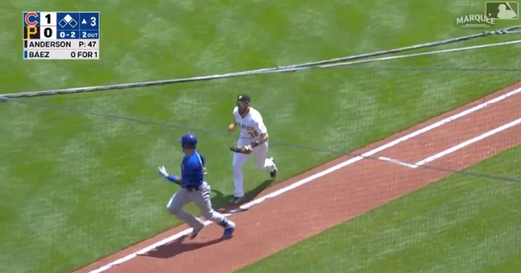Javier Baez lured Will Craig into his trap by stalling on the basepaths and giving Willson Contreras enough time to come home.