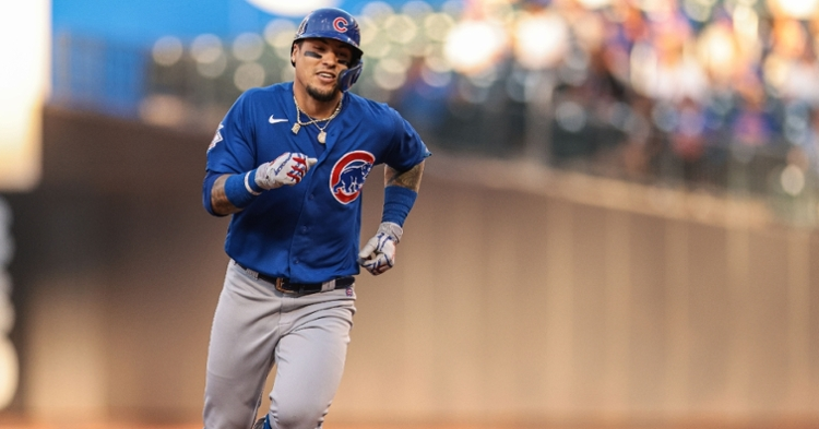 Baez's homer was the only runs scored in the win (Vincent Carchietta - USA Today Sports)
