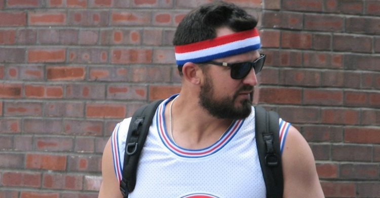 """Rex Brothers went all out with his """"Space Jam"""" attire, which even included a retro headband. (Credit: @sambernero on Twitter)"""