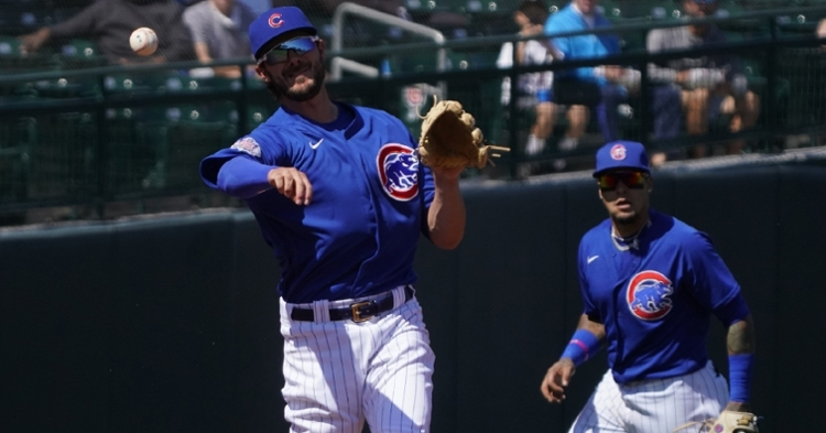 Bryant and Baez were in the lineup on Sunday (Rick Scuteri - USA Today Sports)