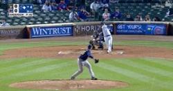 WATCH: Willson Contreras breaks scoreless tie with 409-foot blast