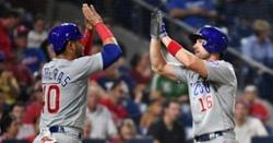 Wisdom, Rivas homer in series opener win against Phillies