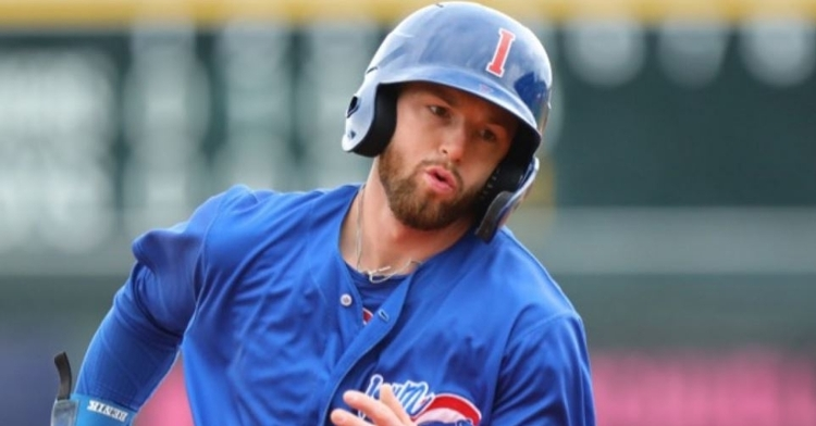 Giambrone is up with the Cubs reportedly (Photo via Cubs)
