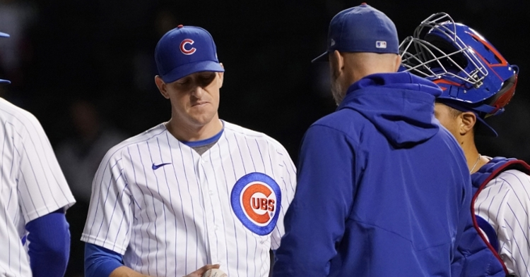 Hendricks was pulled in the sixth inning by Ross (David Banks - USA Today Sports)