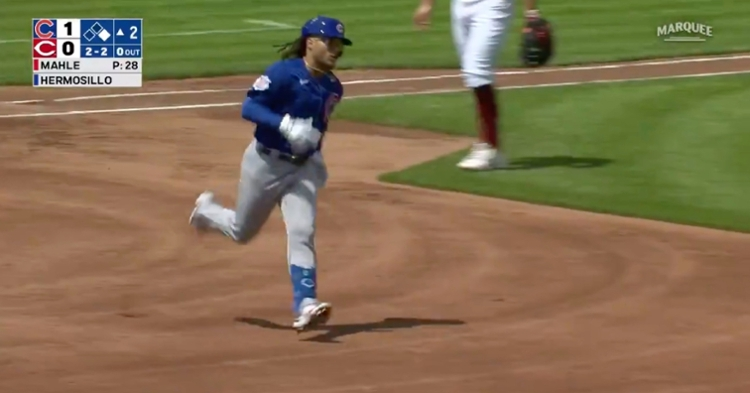 Ottawa, Illinois, native Michael Hermosillo walloped a lengthy two-run homer in his first start with the Cubs.