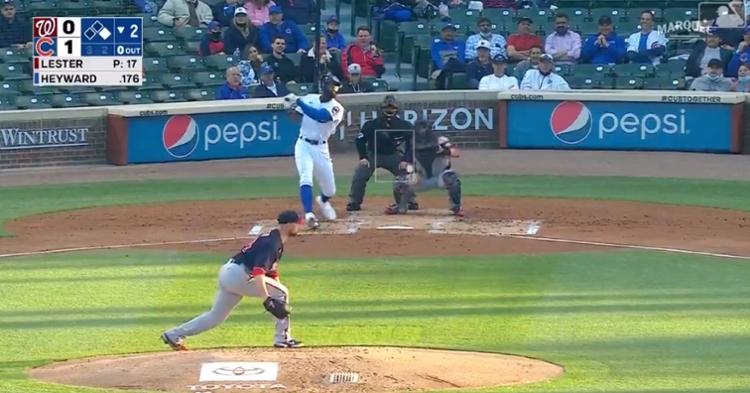 Jason Heyward increased his season RBI total to 12 with a two-run bomb off Jon Lester.