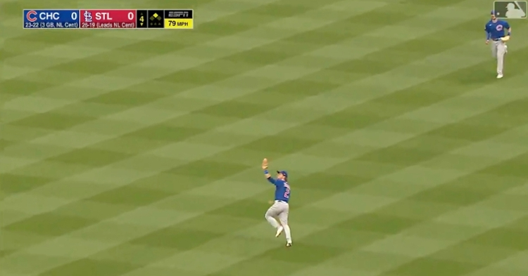 Nico Hoerner secured a leaping snag on the outfield grass and subsequently doubled off Harrison Bader at second base.