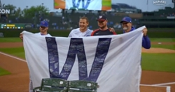 WATCH: Cubs present Jon Lester with signed 'W' flag, Wrigley Field seats