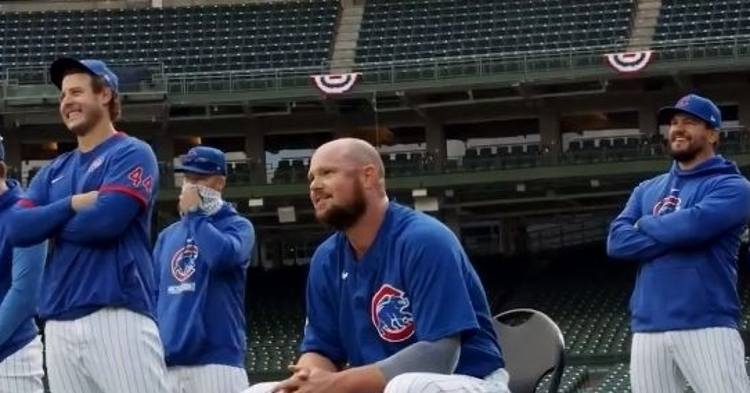 The Cubs showed a behind the scenes video of Lester's tribute (via Cubs)