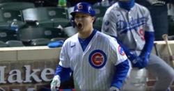 WATCH: Joc Pederson assumes he just hit walkoff home run, bat flips on sacrifice fly