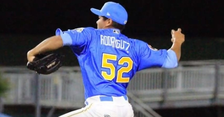 Rodriguez is a promising prospect with a 99 MPH fastball (Courtesy - Pelicans)