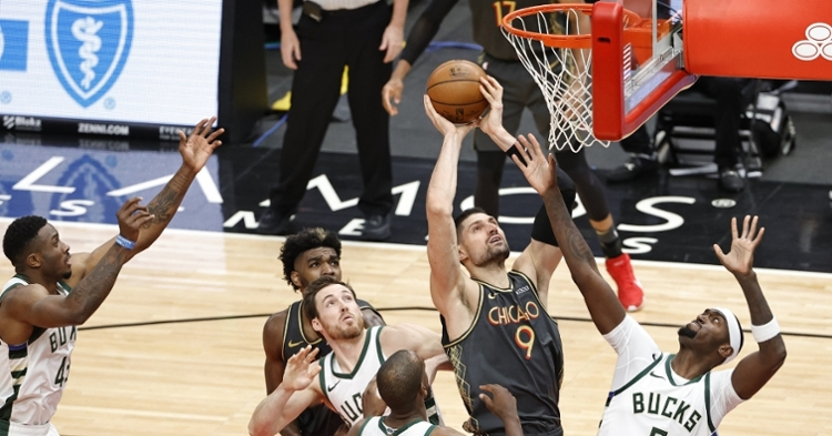 Vucevic had a double-double againt the Bucks (Kamil Krzaczynski - USA Today Sports)