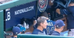 WATCH: Rich Hill throws tantrum in dugout, repeatedly swings bat at bench