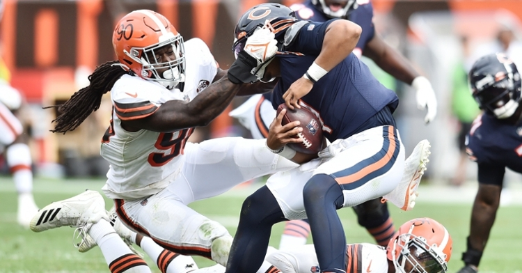 Fields was sacked nine times in the loss (Ken Blaze - USA Today Sports)