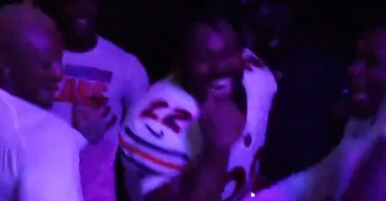 Bears danced in the locker room after the win