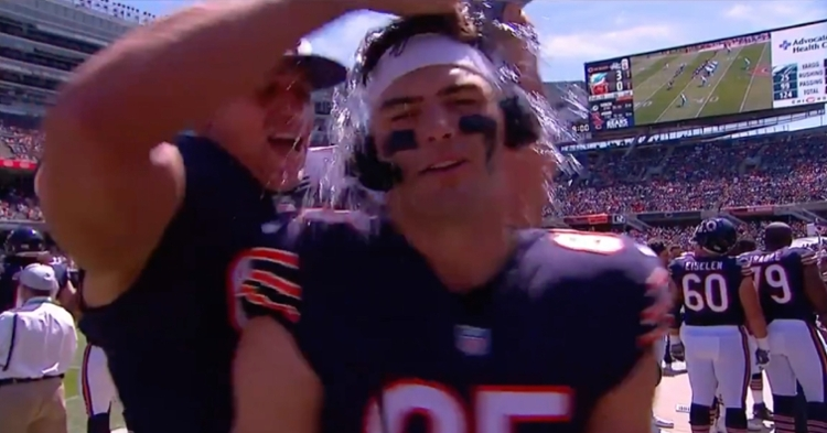 As indicated by the playful prank, Bears tight ends Jimmy Graham and Cole Kmet clearly have a great relationship.