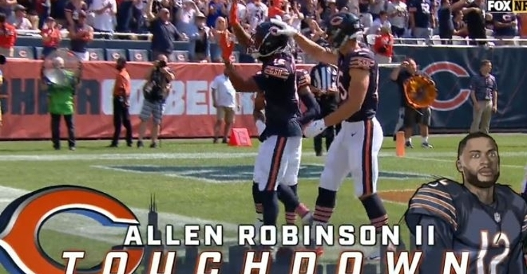 Robinson registered his 40th career touchdown vs. Bengals